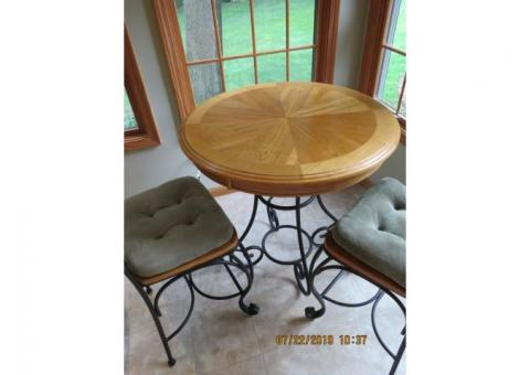 High Top Pub Table with 2 Chairs